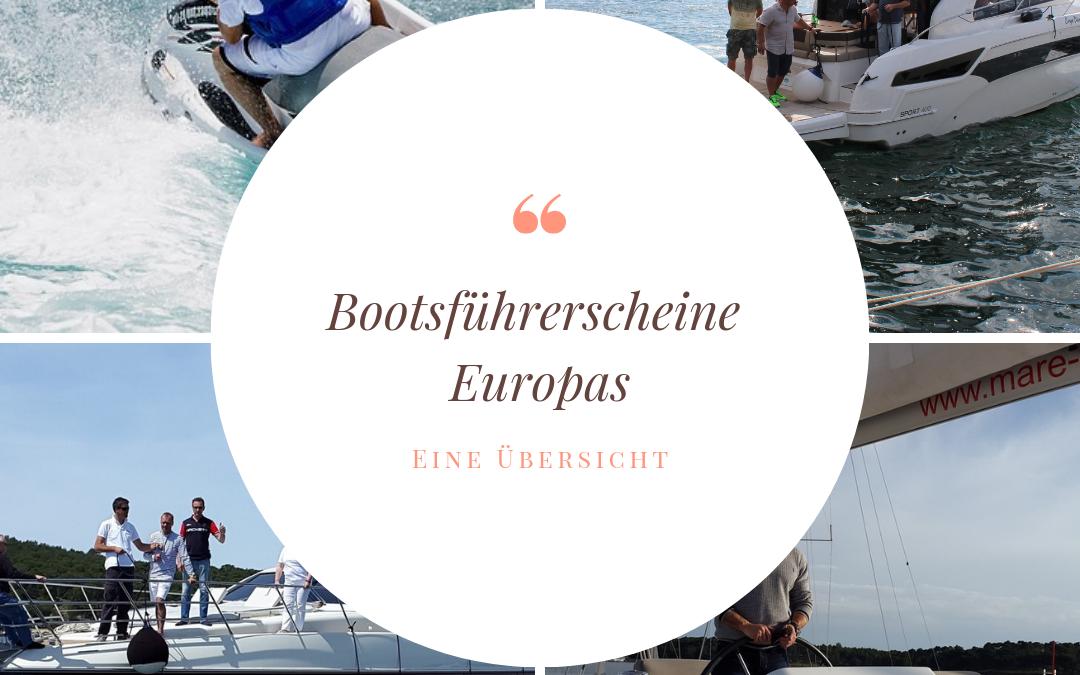 Die verschiedenen Bootsführerscheine Europas